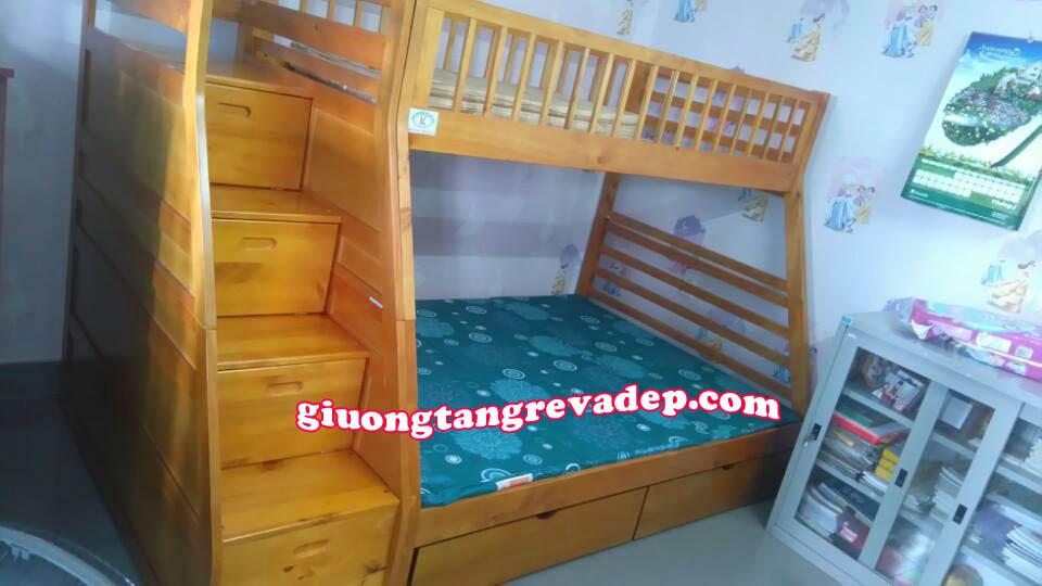giường 2 tầng trẻ em giá rẻ cầu thang hộp 192