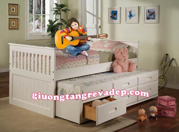 giường 2 tầng trệt trẻ em giá rẻ 092